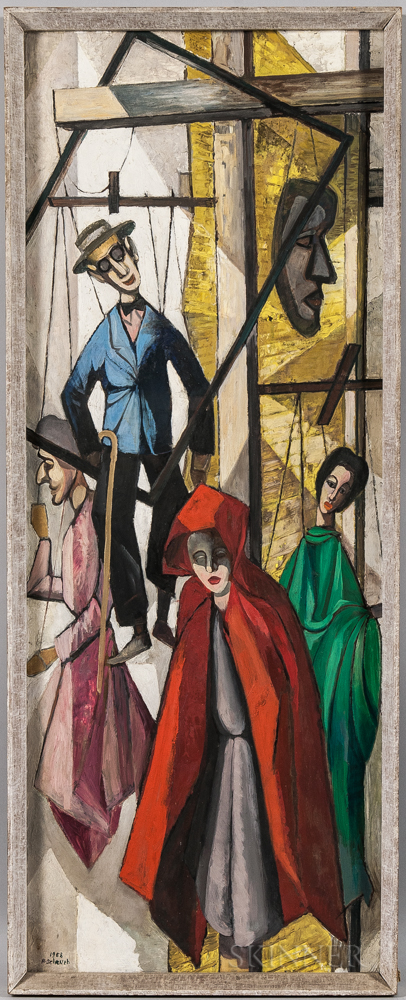 Harry William Scheuch (American, 1906-1978)      The Puppets