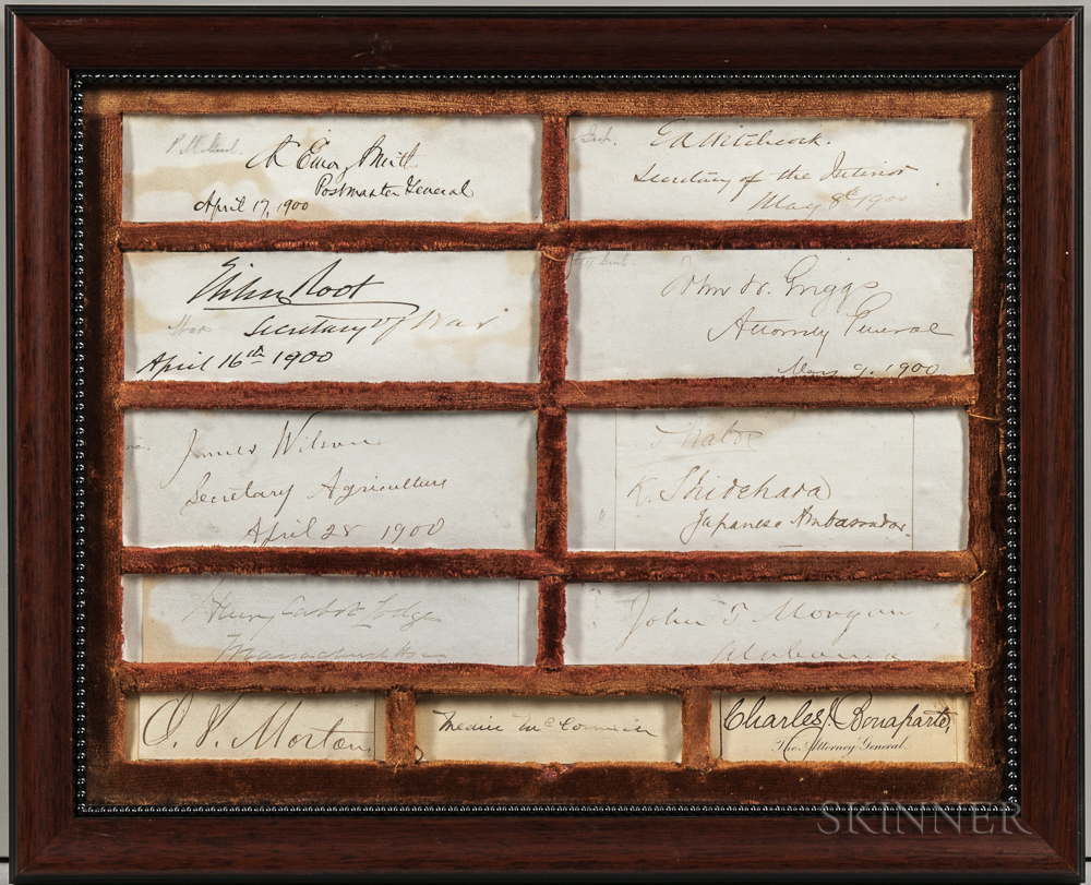 McKinley, William (1843-1901) Signatures of Cabinet Members c. 1900.