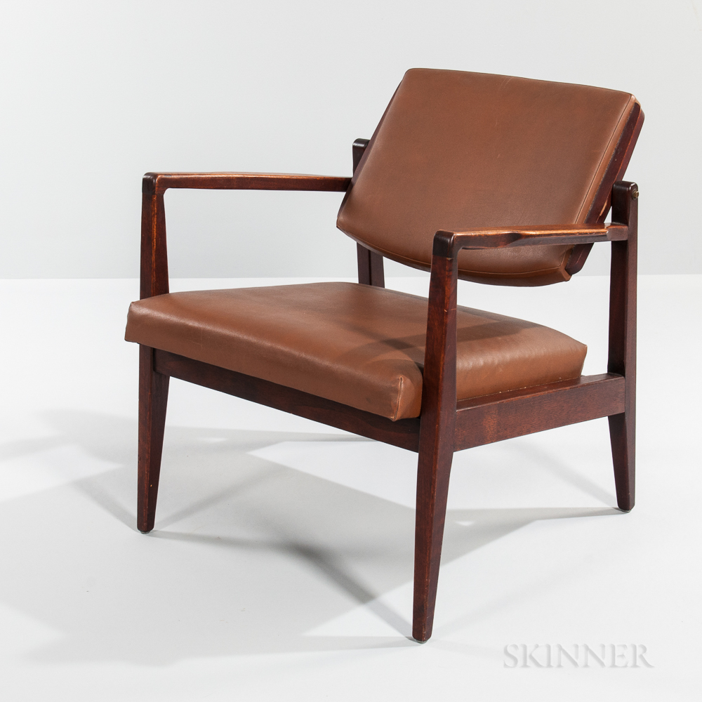 Cumberland Furniture Company Walnut Swing-back Lounge Chair