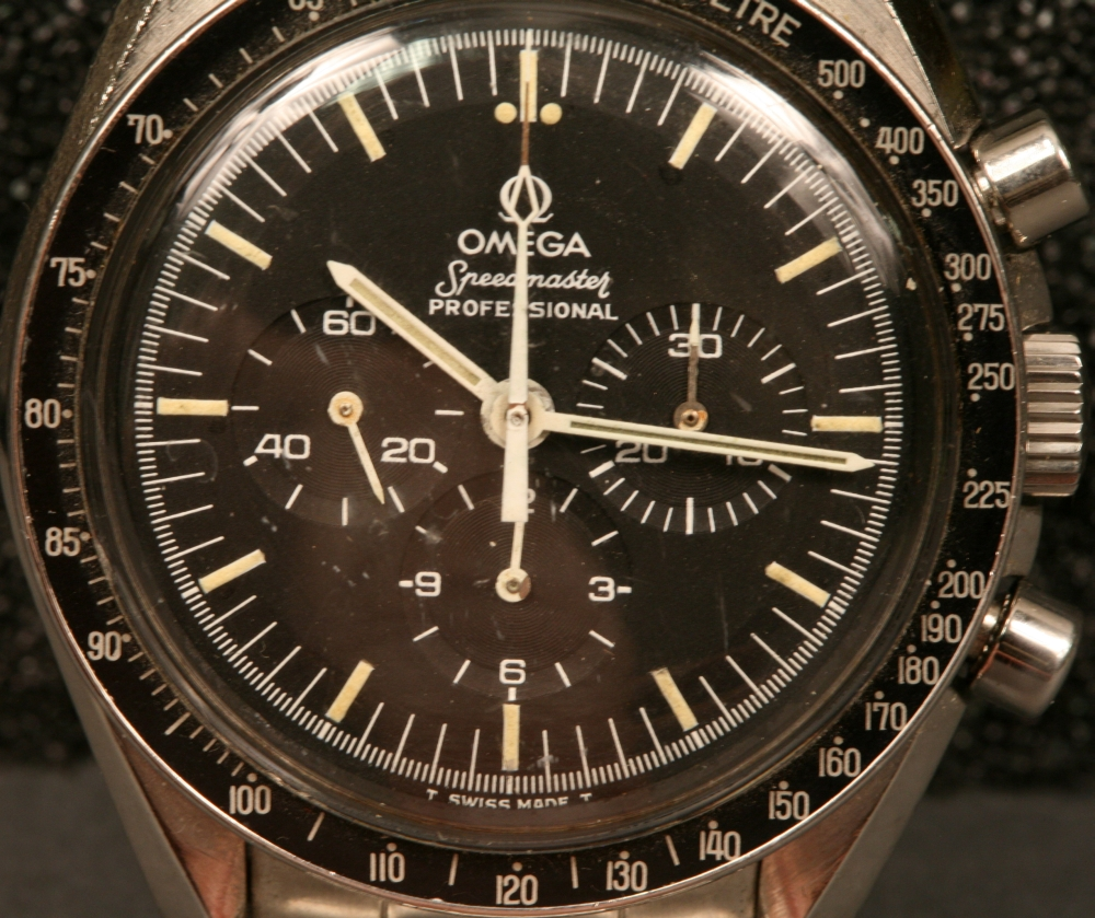 "Omega Speedmaster ""Professional"" Stainless Steel Chronograph Wristwatch"