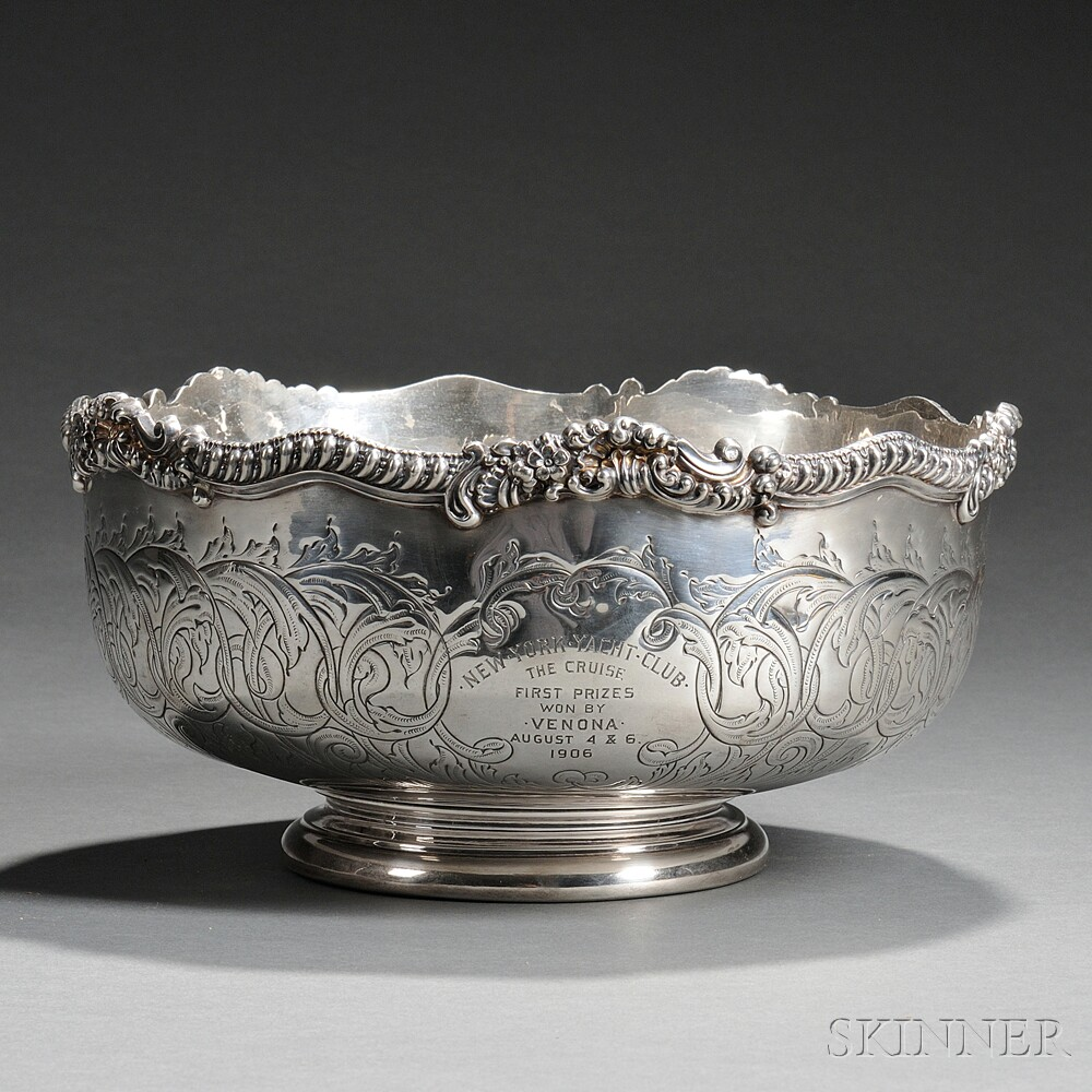 The Metcalf Company Sterling Silver New York Yacht Club Trophy Bowl