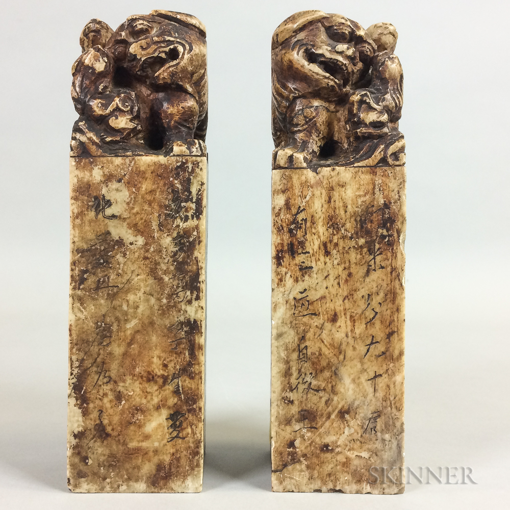 Pair of Soapstone Chops