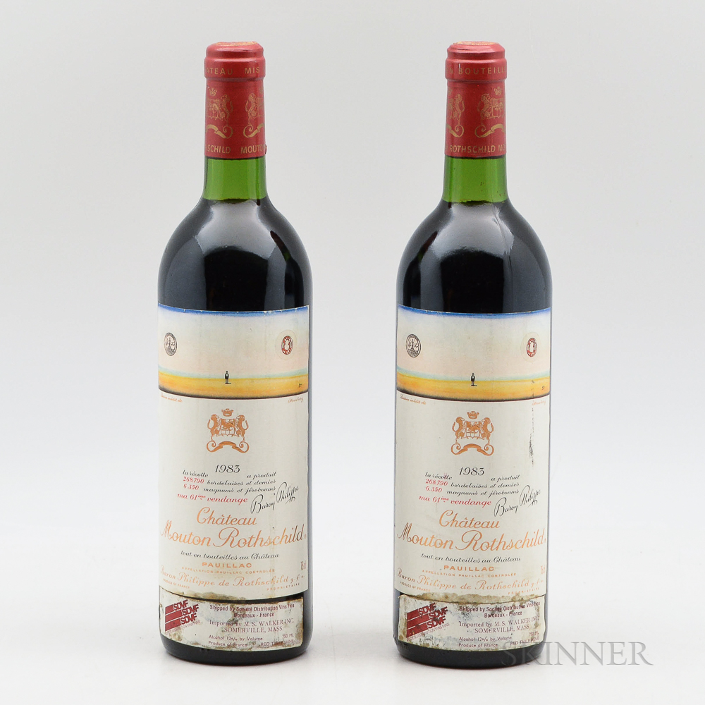 Chateau Mouton Rothschild 1983, 2 bottles