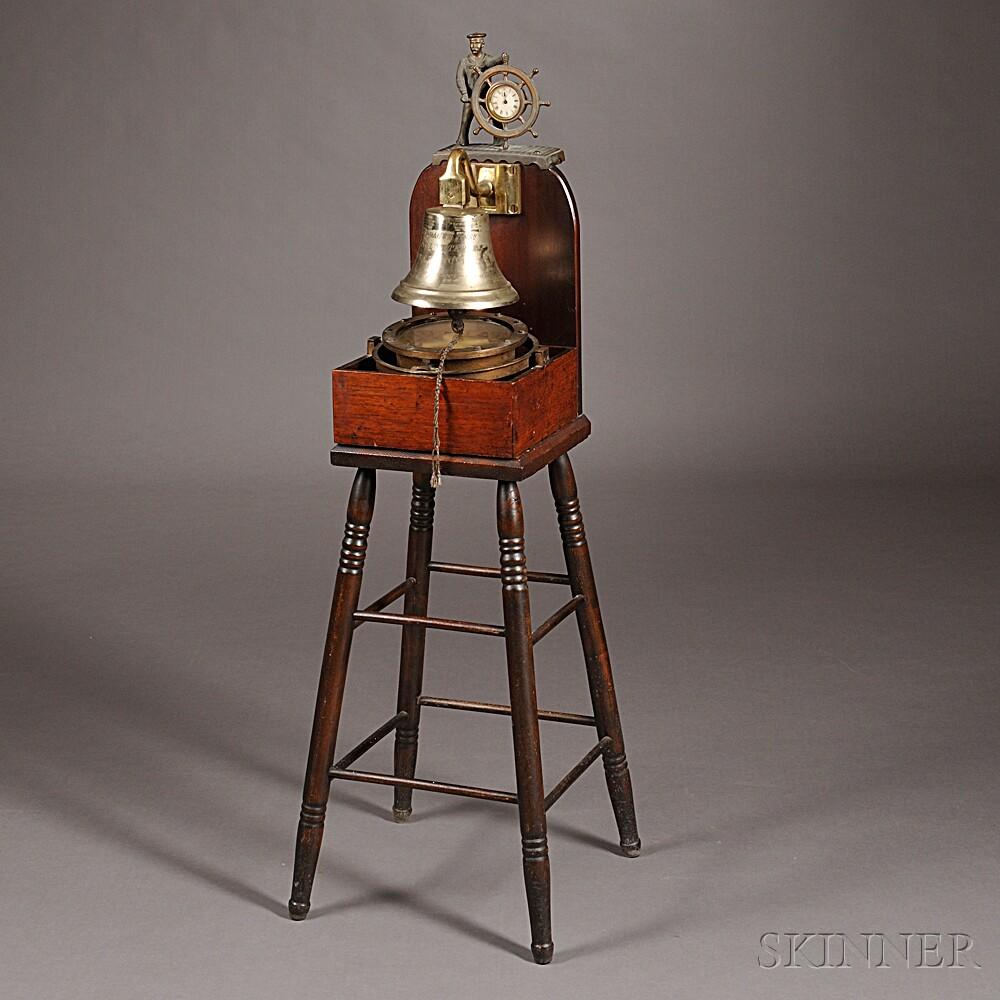 Farragut Association Naval Veterans Presentation Bell and Compass