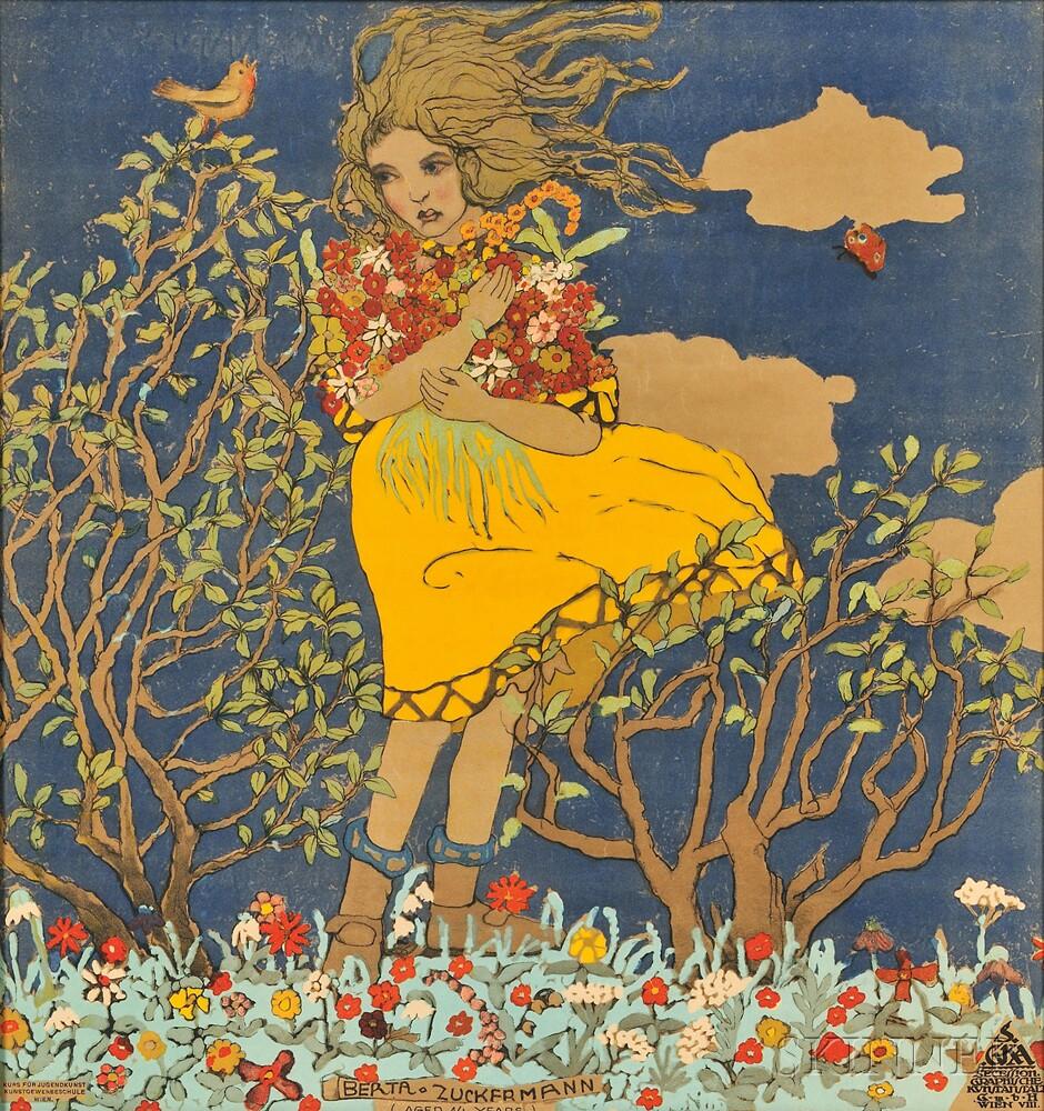 After Franz Cižek (Austrian, 1865-1946)      Berta Zuckermann (Aged 14 Years)