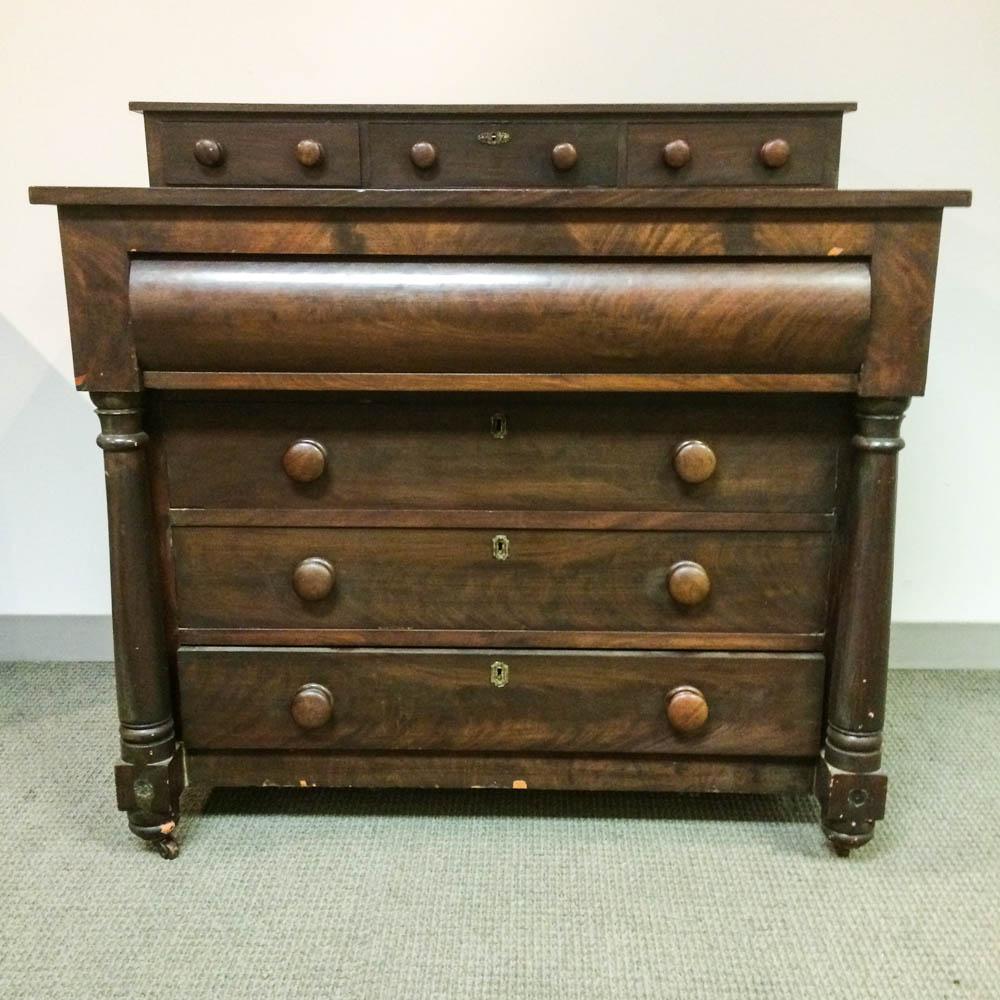 Late Classical Mahogany Veneer Bureau
