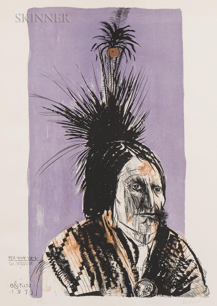 Leonard Baskin (American, 1922-2000)      Pea-Tuy-Tuck - Sac and Fox