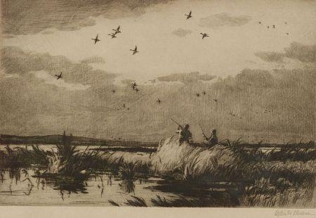 Ogden Minton Pleissner (American, 1905-1983)    Passing Pintails