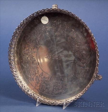 Portuguese .835 Silver Circular Salver