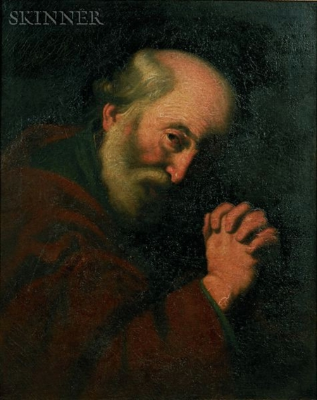 Manner of Jusepe de Ribera (Spanish, 1591-1652)    Saint Peter