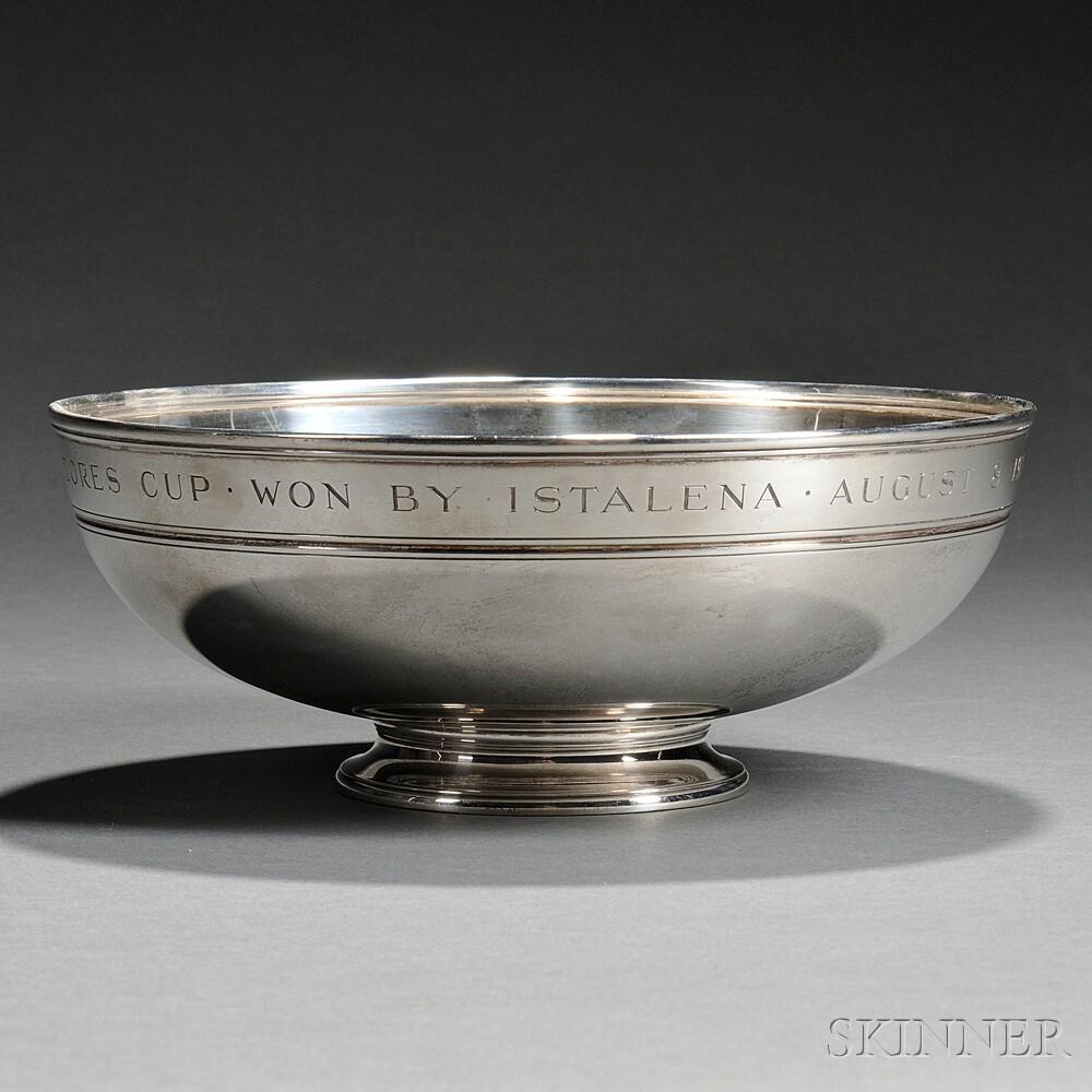 Tiffany & Co. Sterling Silver American Yacht Club Trophy Bowl