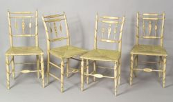 Set of Four Federal Fancy Chairs