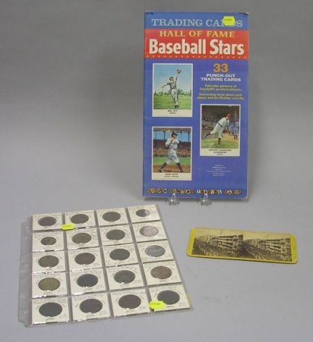 Twenty Brass and Copper Merchants Tokens, a 1961 Book of Golden Funtime Baseball