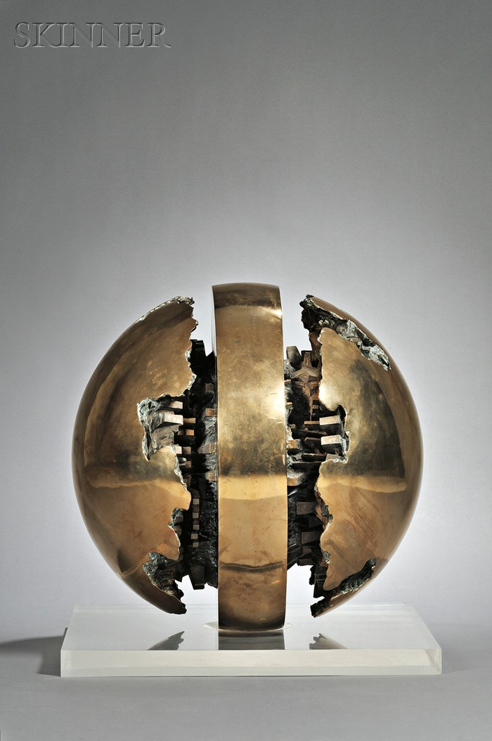 Sold for: $468,000 - Arnaldo Pomodoro (Italian, b. 1926)      Rotante primo sezionale n. 1 [Rotating First Section No. 1]