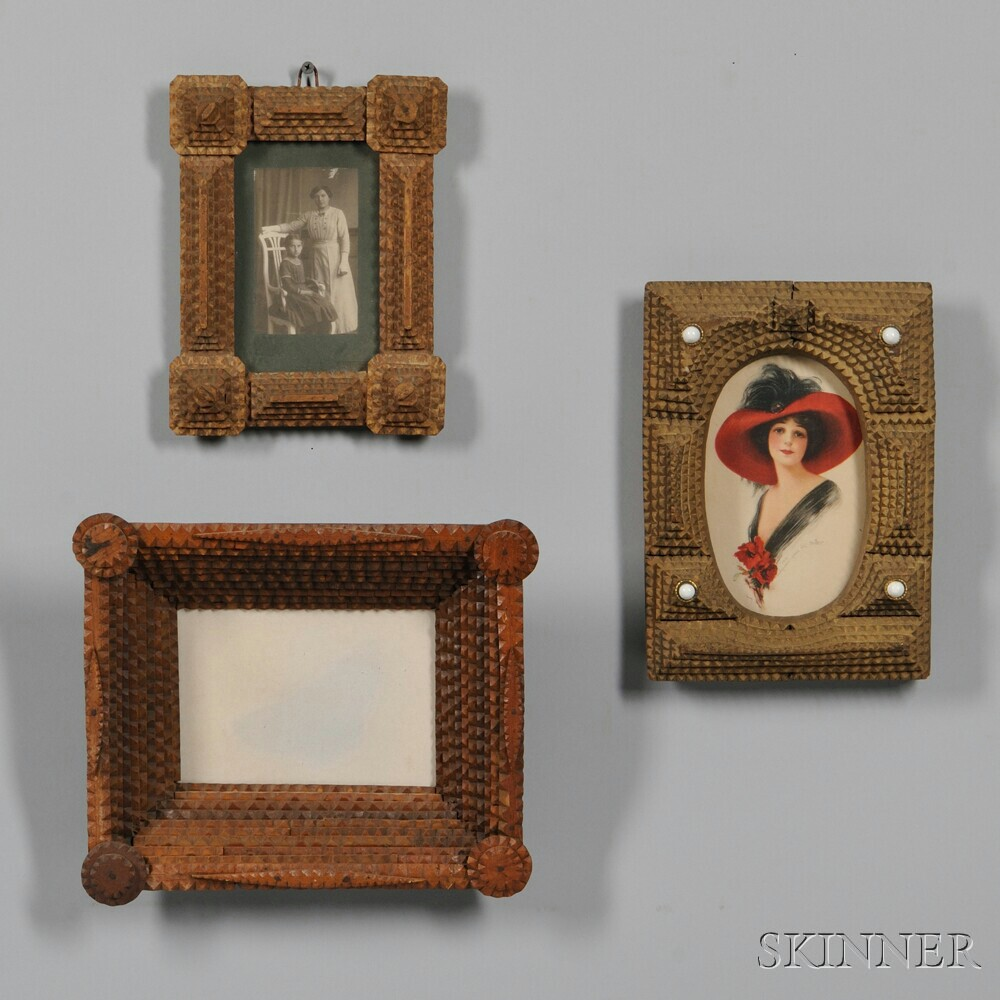 Three Carved Tramp Art Frames | Sale Number 2880B, Lot Number 502 ...