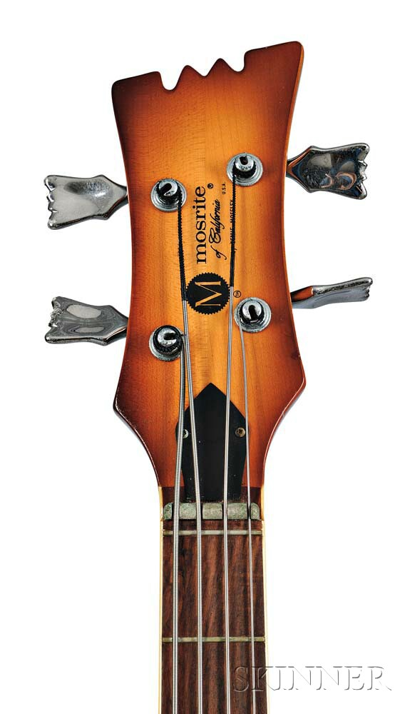 Mosrite Custom Axe Electric Bass Guitar, c. 1980,