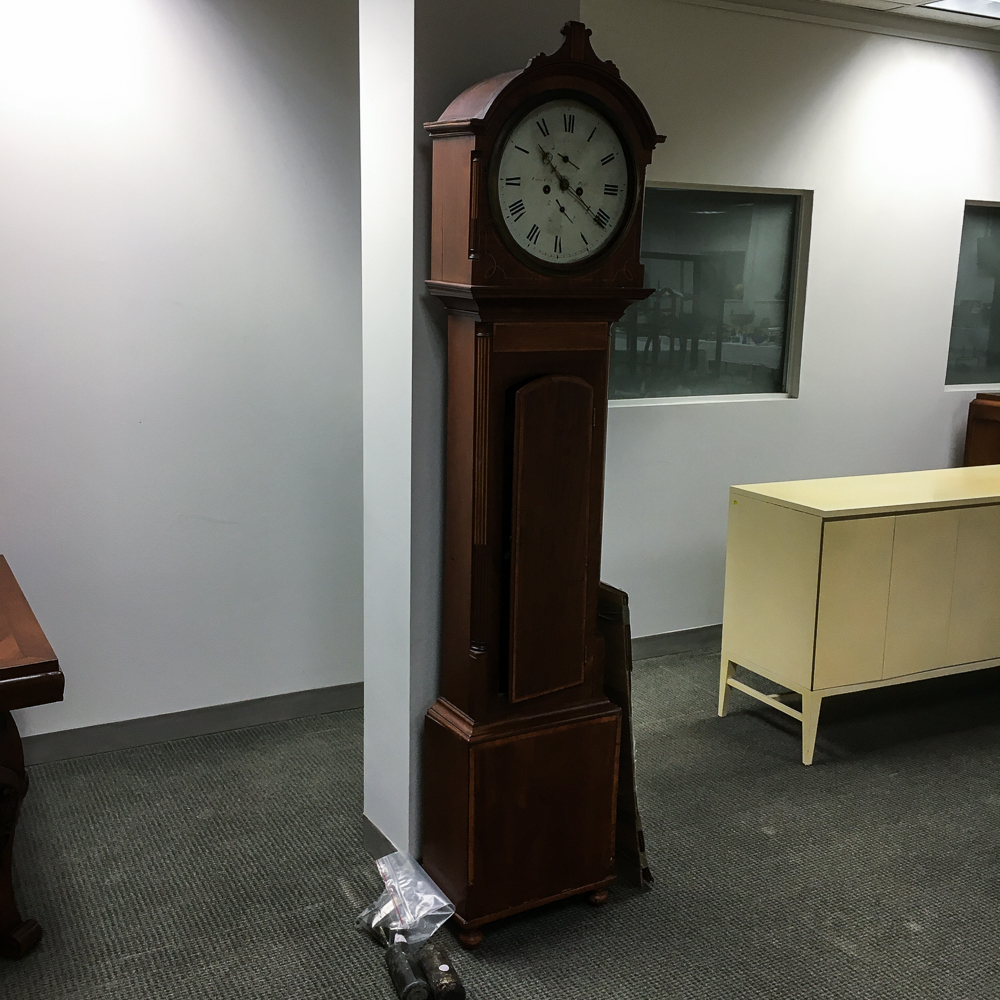Scottish Inlaid Mahogany Tall Case Clock
