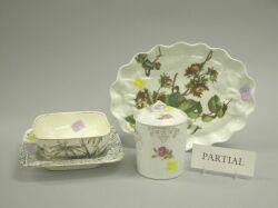 Nineteen Assorted Porcelain Baskets and Plates.