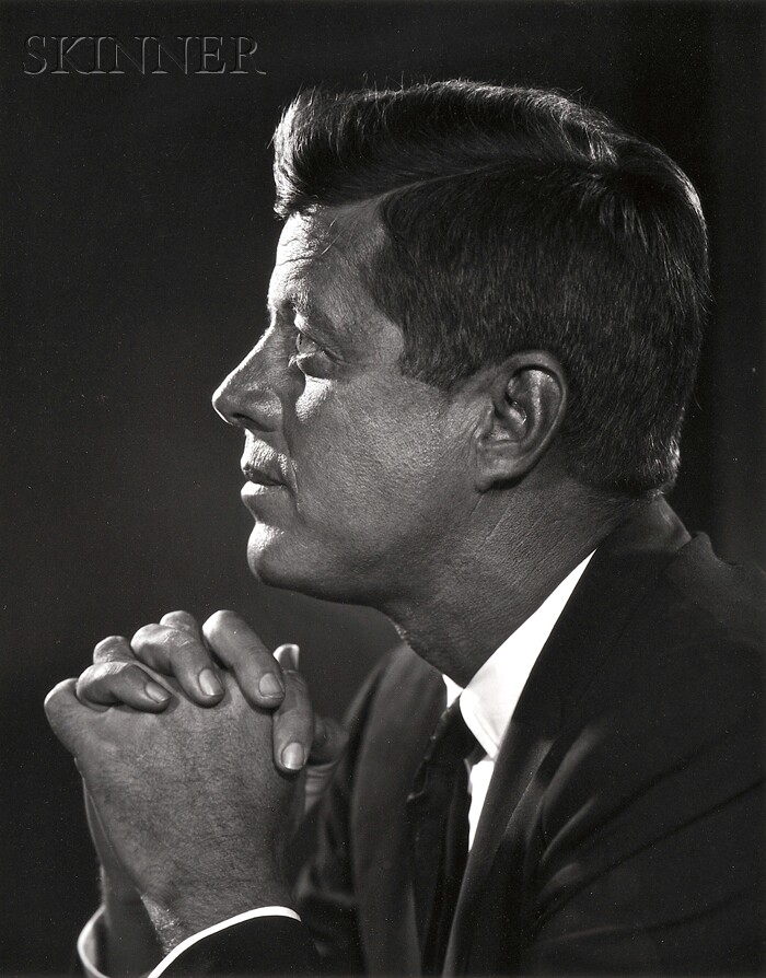 Yousuf Karsh (Canadian, 1908-2002)      John F. Kennedy