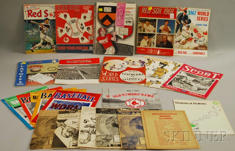 Group of Assorted 1930s-70s Baseball and Sports Programs, Magazines, and Ephemera