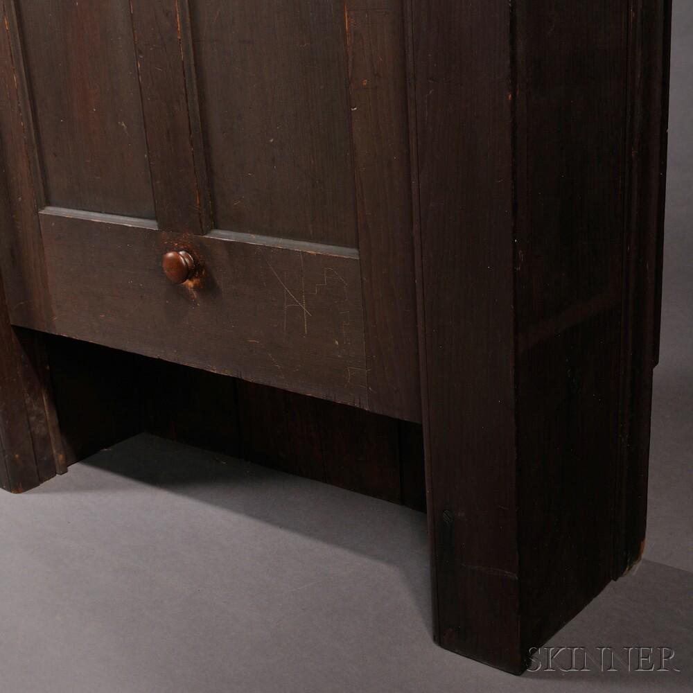Shaker Pine Built-in Dumb-waiter/Cupboard