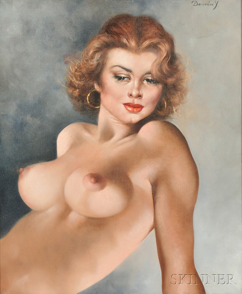 Continental School, 20th Century    Half-length Nude