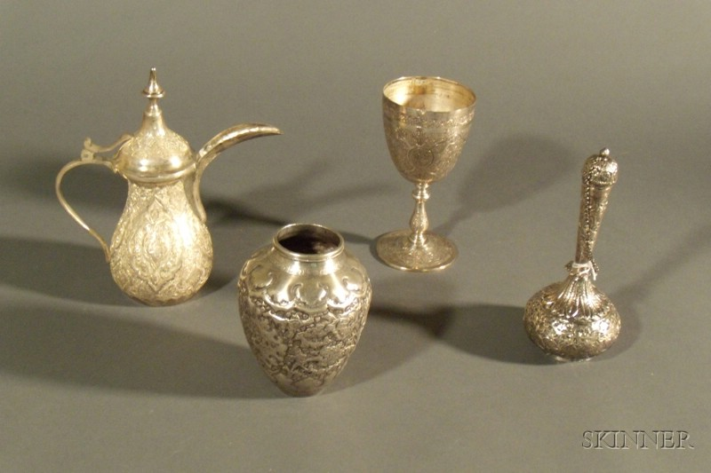 Four Middle Eastern Silver Tablewares