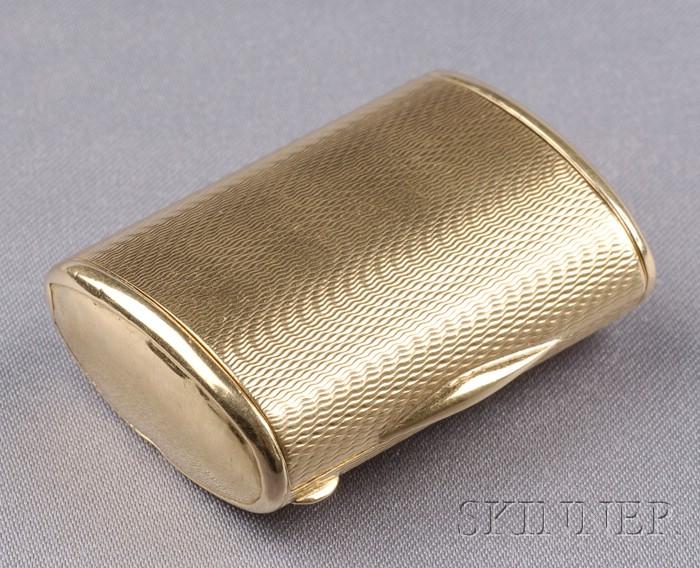 18kt Gold Pillbox, Cartier,
