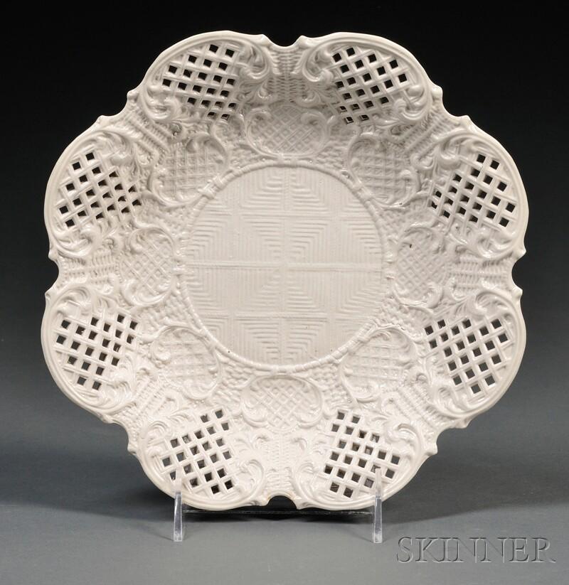 Four Staffordshire Salt-glazed Stoneware Dishes