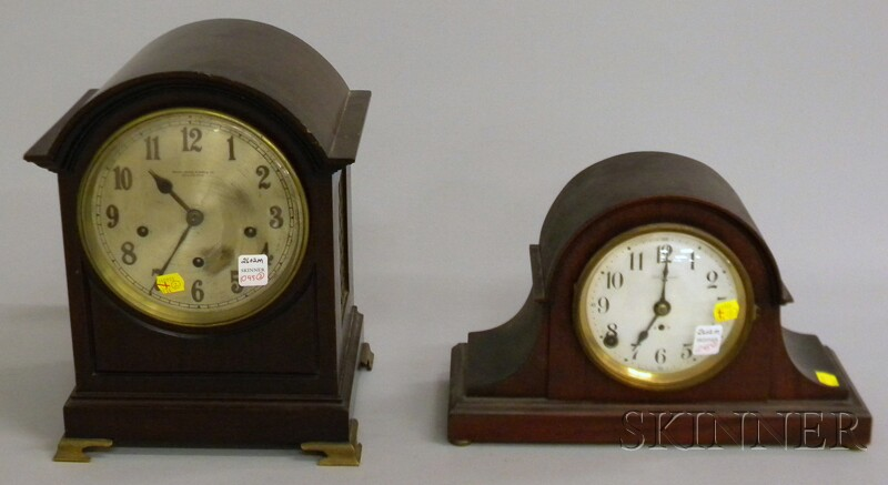 Two Mahogany Mantel Clocks