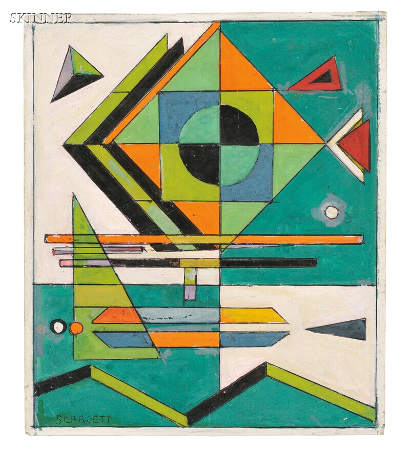 Rolph Scarlett (American, 1891-1984)      Abstraction