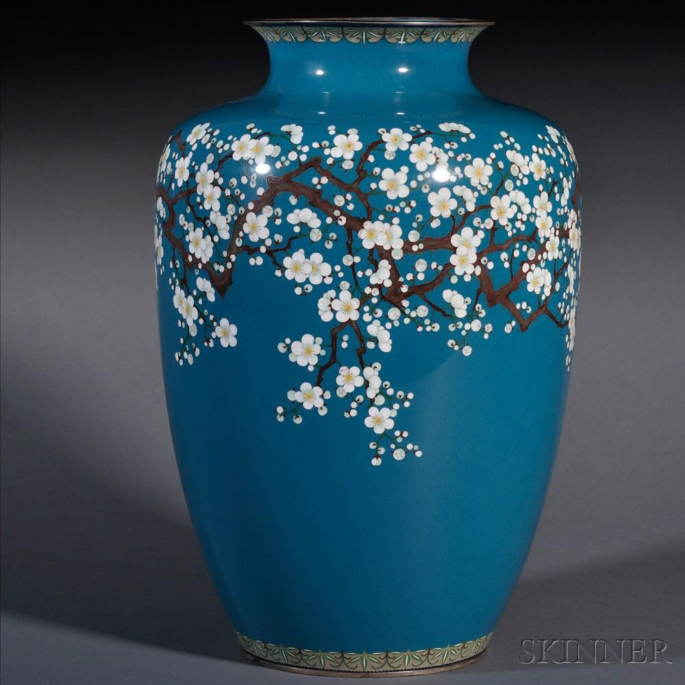 Ando Jubei (1876-1953), Cloisonne Vase