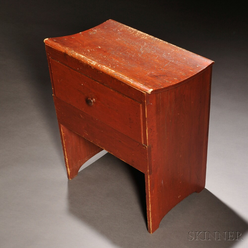 Shaker Red-painted Pine Loom Bench