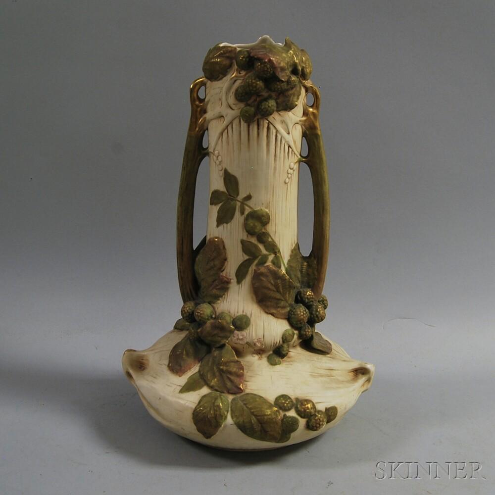 Large Art Nouveau-style Ceramic Vase