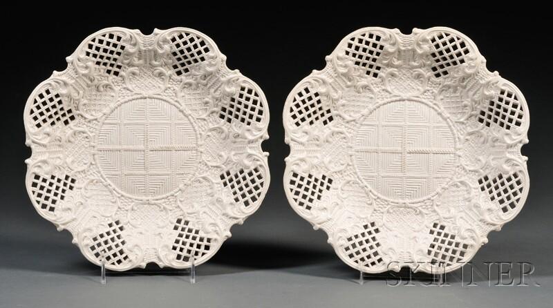 Two Staffordshire Salt-glazed Stoneware Dishes