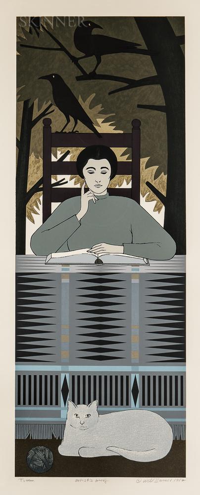 Will Barnet (American, 1911-2012)      Totem