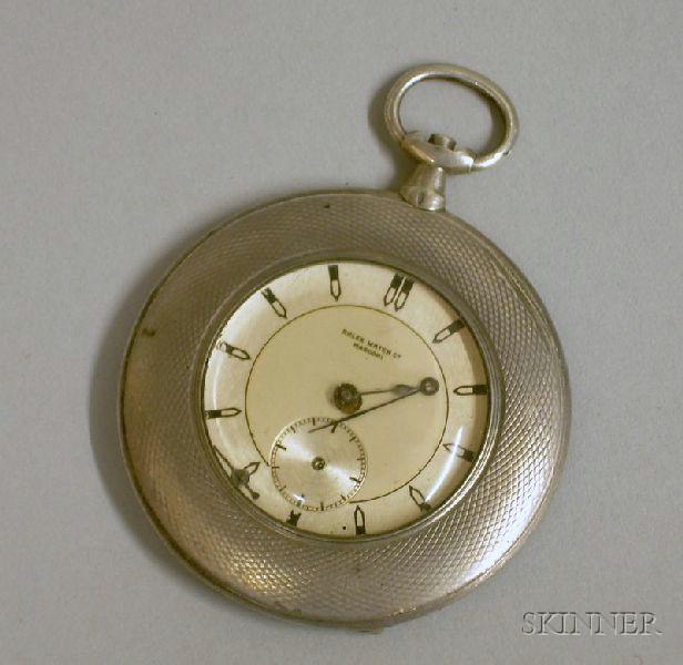 Art Deco .875 Silver Rolex Watch Co. Marconi Pocket Watch