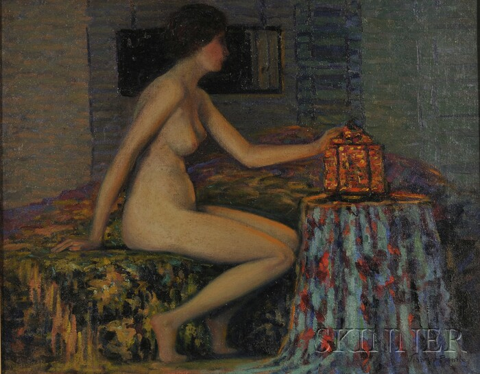 John William Bentley (American, 1880-1951)      Portrait of a Seated Nude