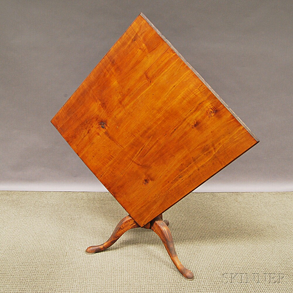 Country Maple Square Tilt-top Tea Table