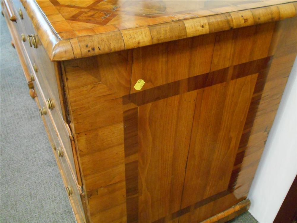 South German Parquetry Chest of Drawers