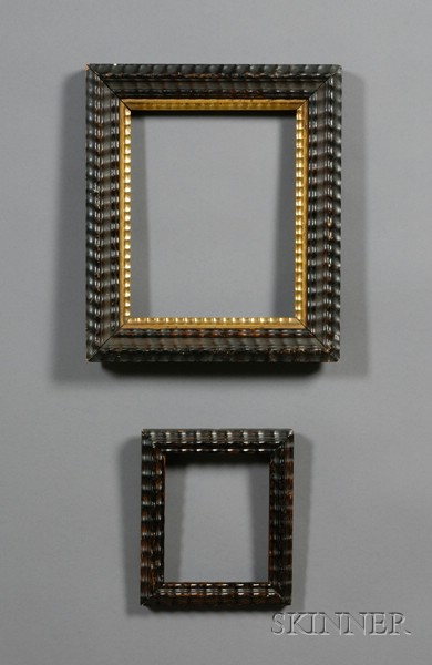 Two Ripple Carved Wooden Frames