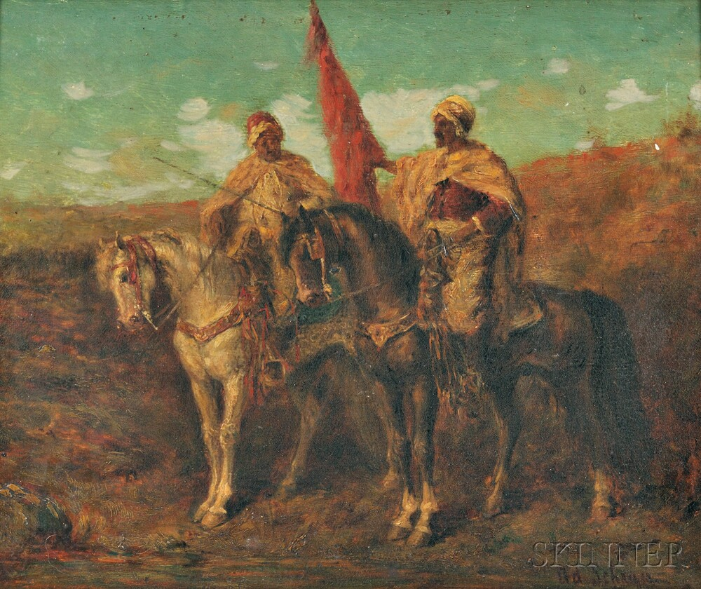 School of Adolph Schreyer (French/German, 1828-1899)    Two Horsemen