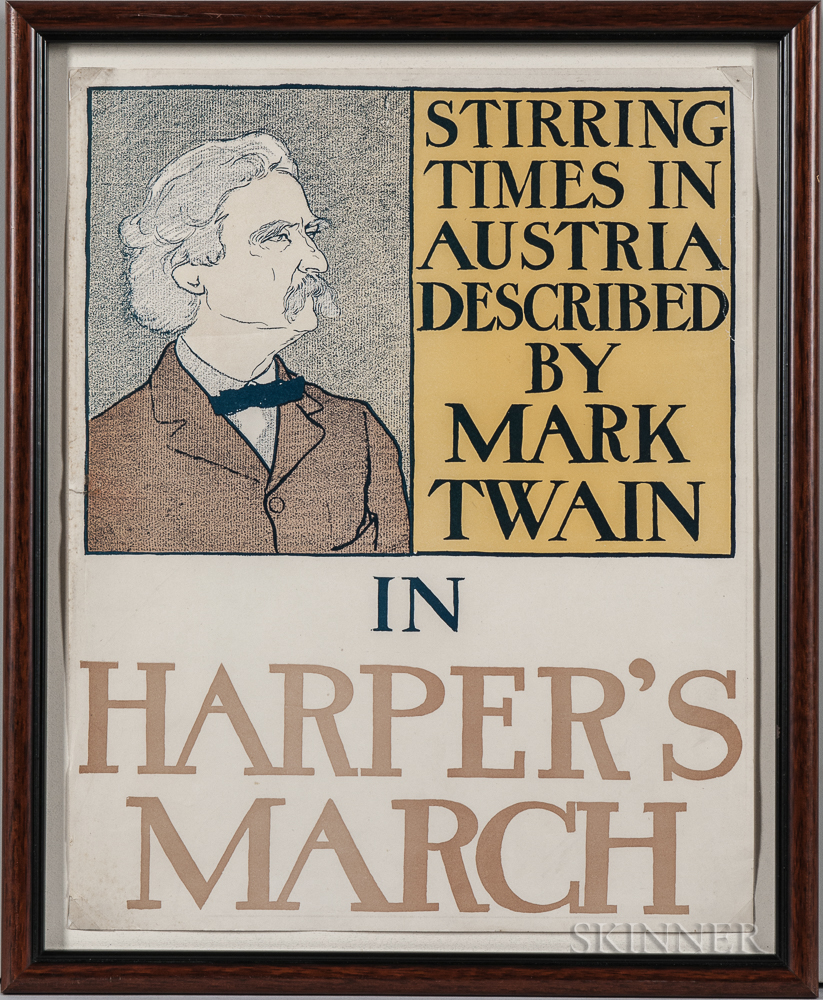 Penfield, Edward (1866-1925) Stirring Times in Austria Described by Mark Twain in Harper's March,   [1898] Poster.