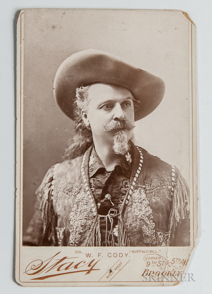 Buffalo Bill Signed Cabinet Card