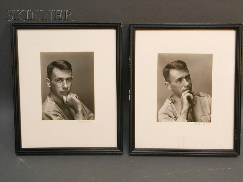 Edward Weston (American, 1886-1958)      Two Portraits of Lt. Roswell Drake Ison