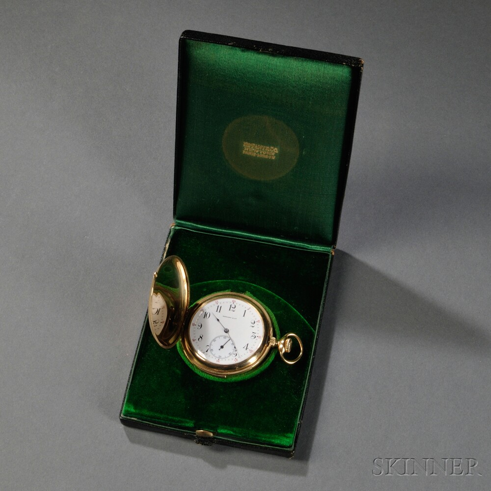Tiffany 18kt Gold Hunting Case Five-minute-repeating Watch
