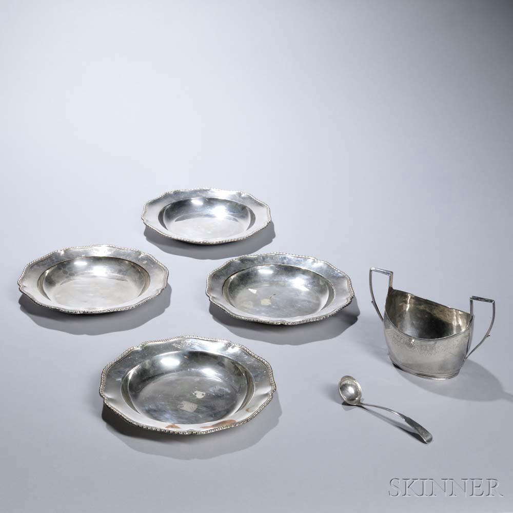 Six Pieces of British Tableware