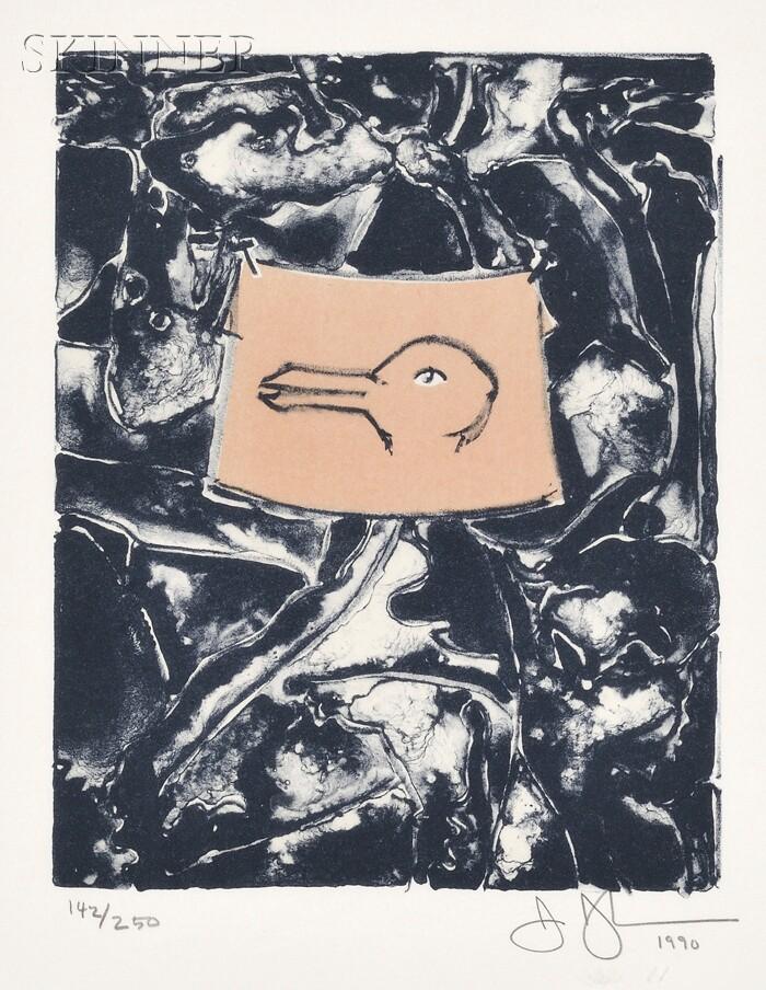 Jasper Johns (American, b. 1930)      Untitled (Duck)