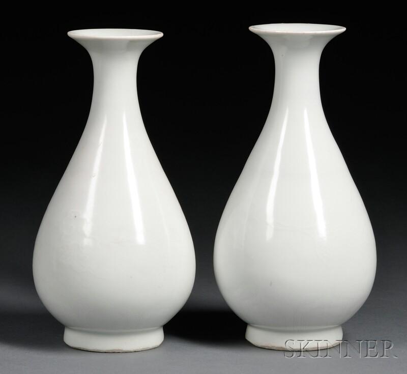 Pair of Shu Fu   Wine Bottles