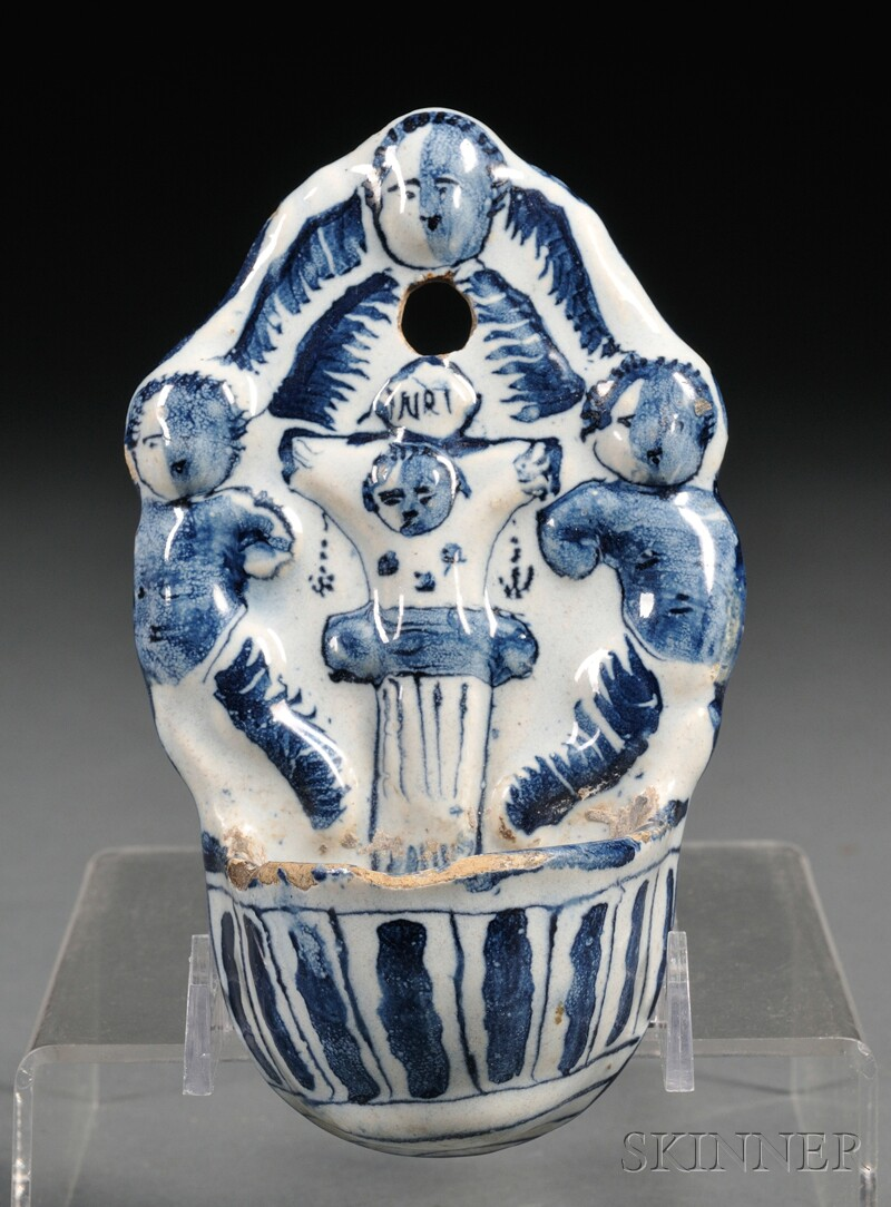 Dutch Delft Holy Water Font